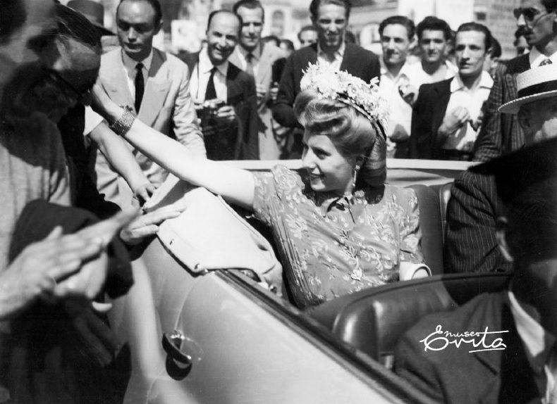 Eva Perón en el mundo: la gira del arcoíris