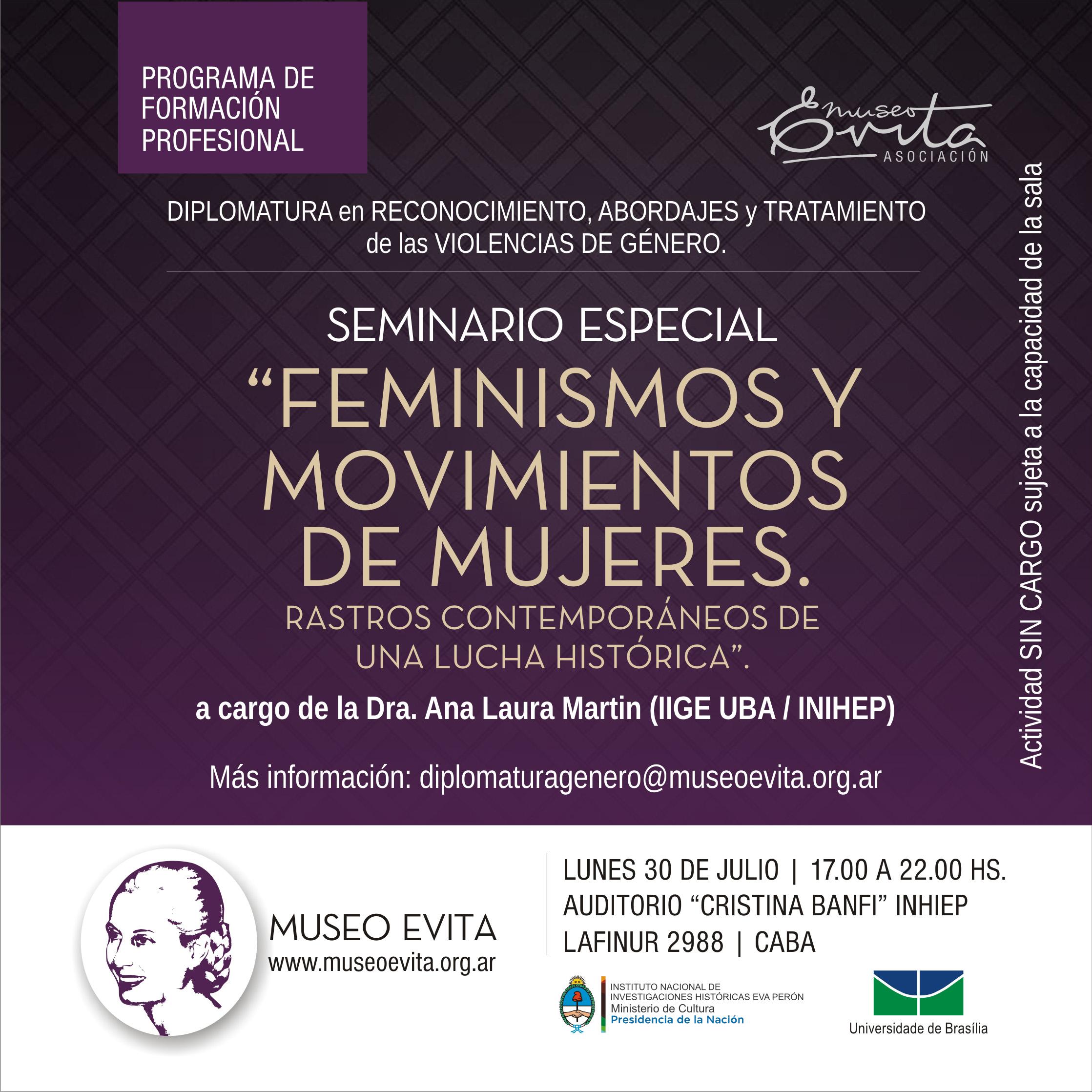 """Seminario especial: """"Feminismos y Movimiento de Mujeres. Rastros contemporáneos de una lucha histórica"""""""