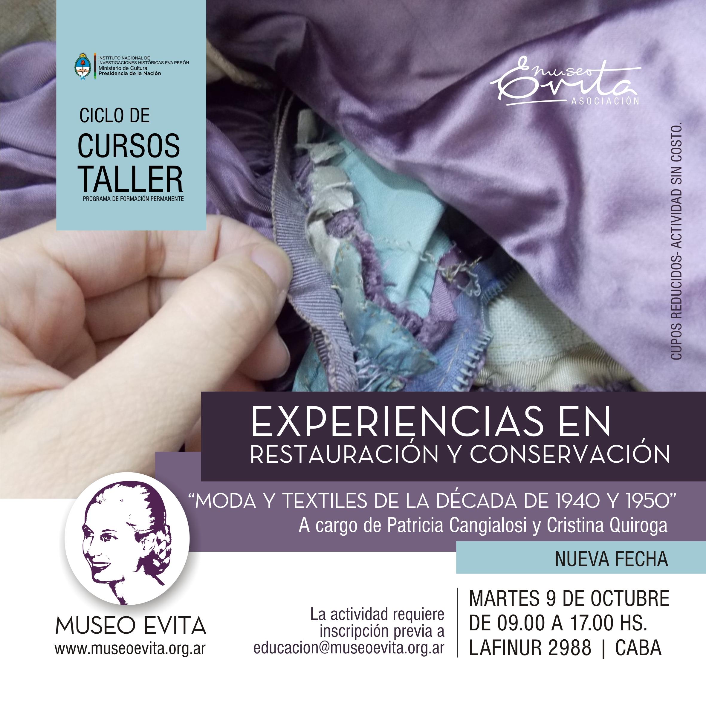 """""""Moda y textiles en las décadas '40 y '50 del siglo XX"""""""