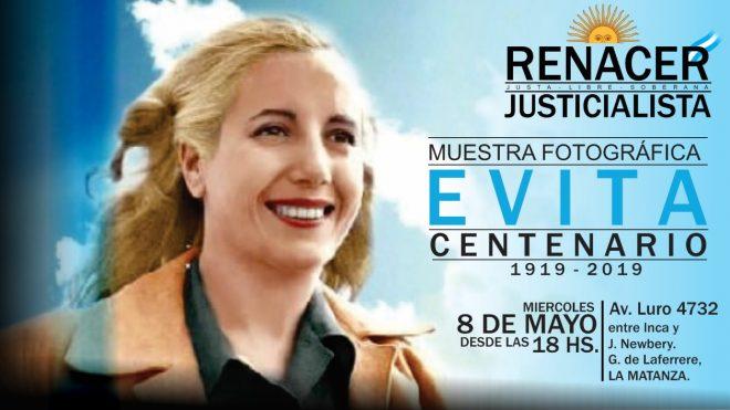 """Muestra Fotográfica """"EVITA, Centenario"""" - Renacer Justicialista."""