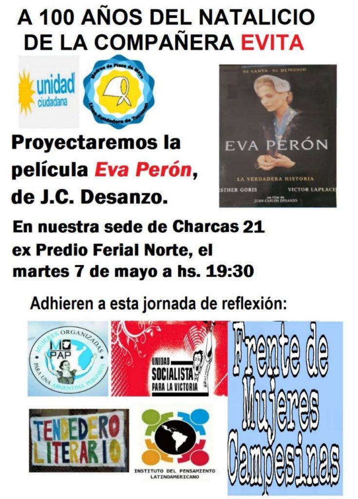 Madres de plaza de mayo homenajean a Evita