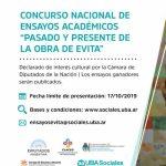 """Concurso Nacional de Ensayos Académicos """"Pasado y presente de la obra de Evita"""""""